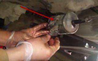 Замена топливного фильтра Фольксваген Пассат Б5
