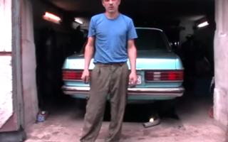Замена подвесного подшипника Mercedes w123
