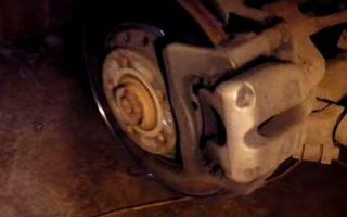 Замена задних тормозных колодок Ауди А8