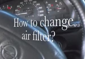 Opel Astra замена воздушного фильтра