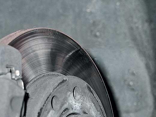Выработка на тормозном диске Ланос