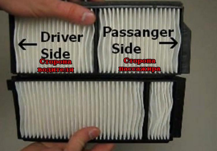 Стороны установки фильтров Мазда 5