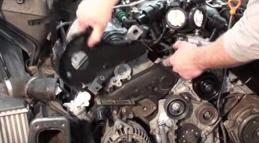 Демонтируем шестерню ГРМ Ауди А6