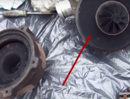 Чистим от нагара турбину Ауди А6 С5