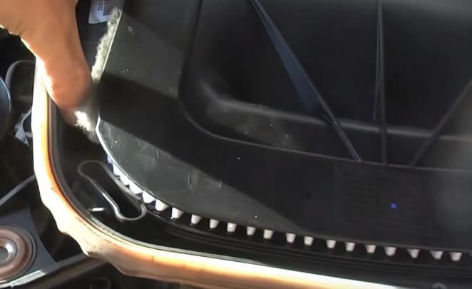 Устанавливаем заборник воздуха БМВ Х3