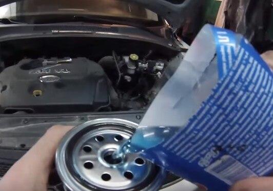 Устанавливаем топливный фильтр Киа Спортейдж