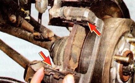 Направляющие скобы задних колодок Хендай Туссан