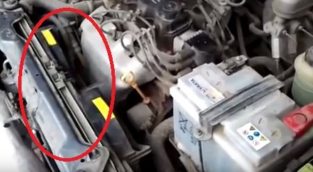 Радиатор охлаждения двигателя lanos