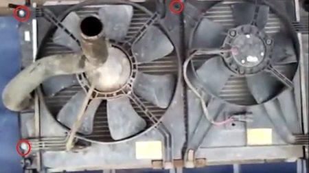 вентилятор радиатора ланос